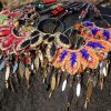 sautoirs BIG FLOWERS INDIA style ethnique/gipsy colorés