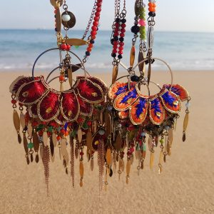 Sautoirs/ colliers BIG FLOWERS INDIA - style bohème, gipsy coloré