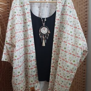 Collection – KIMONOS – COUPLE FLAMANDS ROSES –