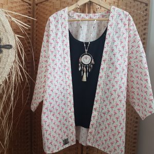 Collection – KIMONOS – FLAMANDS ROSES –