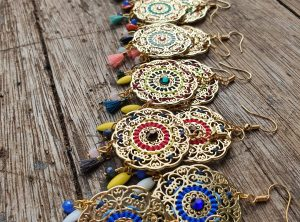 Collection LILA - Boucles d'oreilles LILA - ROSACE- STYLE INDIAN